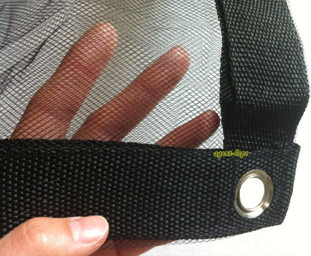 3 6x3 6m 12 x12 12x12 Double Layer Black Gauze Net Backdrop Cloth For Light Weakening