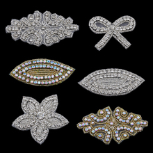 MASOKAN Handmade Bling Sew On Hot Fix Beaded Crystal AB Rhinestone Applique  for Wedding Ornaments Baby 66d8698868a4