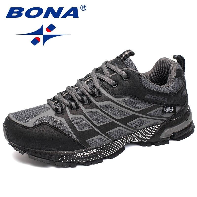 BONA/новый классический стиль для мужчин кроссовки для прогулок Бег Спортивная обувь на шнуровке сетчатый верх спортивная обувь Быстрая бесп...