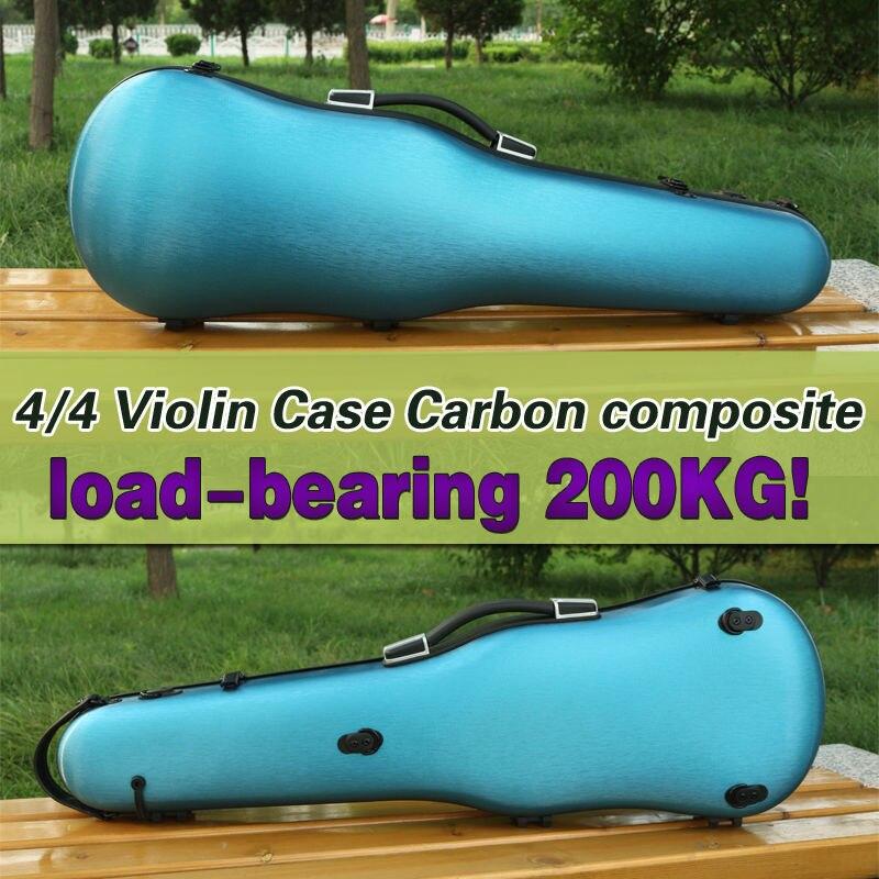 Yinfente 4/4 скрипка случае углеродного синий высокая прочность несущей 200 кг сильный может поместить два Луки