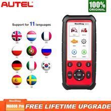 Autel MaxiDiag MD808 Pro OBD2 Tarayıcı Araç teşhis Aracı için Yağ Pil Sıfırlama Kayıt Park Fren Pad Relearn