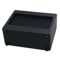 Yibuy 20 5x16x8cm Plastic Black Guitar Amplifier 9V 5W Portable Outdoor Playing And Singing Guitar Speaker