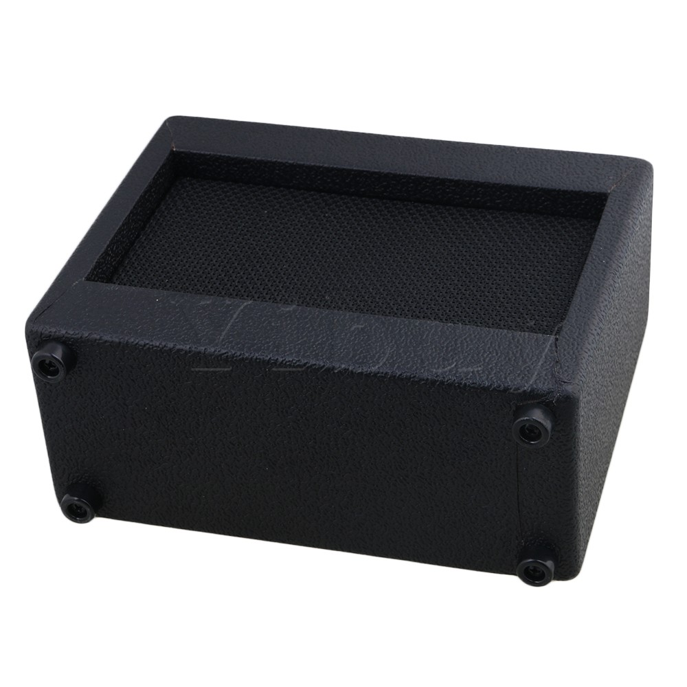 Yibuy 20.5x16x8cm Plastic Black Guitar Amplifier 9V/5W Portable Outdoor Playing and Singing Guitar Speaker Cabinet 5pcs waiter wireless calling system for restaurant hotel transmitter button call pager waterproof equipment f3250c