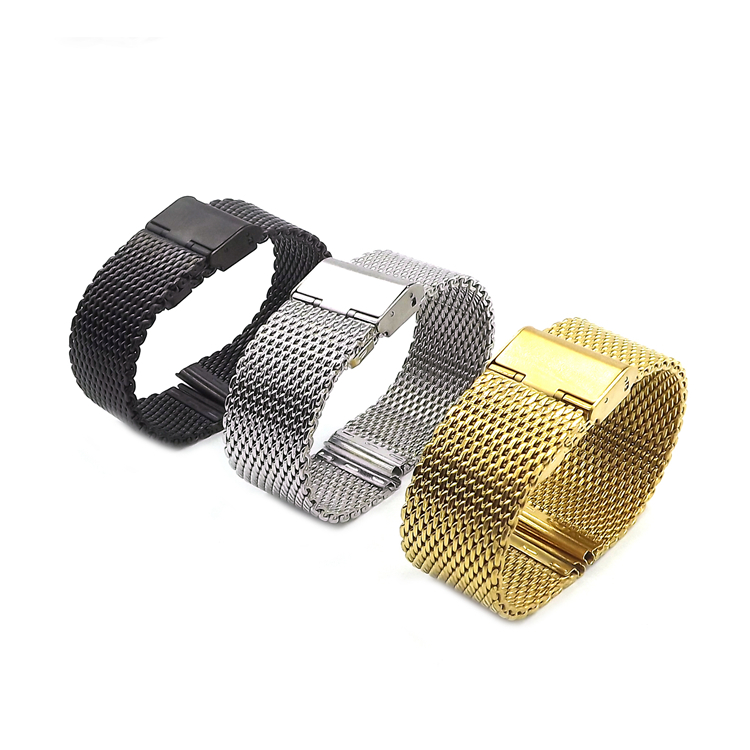 1piece selling 1mm Diameter Men Stainless Steel Mesh Watch Bands Watch Straps 18mm 20mm 22mm 24mm with smooth Head isunzun watch bands for tissot 1853 t045 407a t045 harbor series steel strip brand watch straps stainless steel watch chain