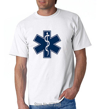 designer t shirt cotton T Shirt Men EMT Shirt Emergency Medical Technician EMS Star Of Life Tee Shirts euro size sbz4588