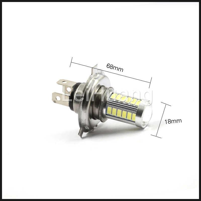 1x H4 светодиодный 5630 33SMD 8 Вт 33 светодиодный лампы света автомобиля 12 V 800lm движения дальнего света светодиодный фонарь белого и желтого цвета