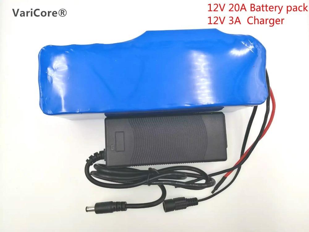 12 V 20Ah Batterie Au Lithium 18650 12.6 v 20000 mah Mineur Capacité 100 W 800 W Haute Puissance Lampe + 12 V 3A Chargeur. Batterie taille 56*185*70mm