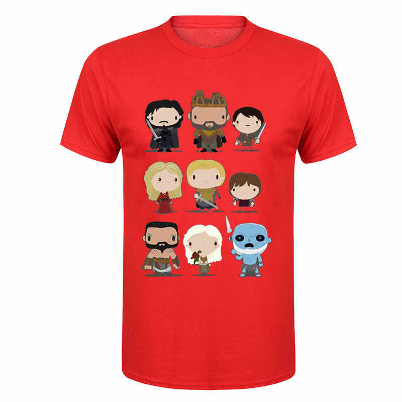 New Arrival Creative Art Design Cartoon Dethrone thrones characters Printed T Shirts New game Men Fashionable Short Sleeved Tees