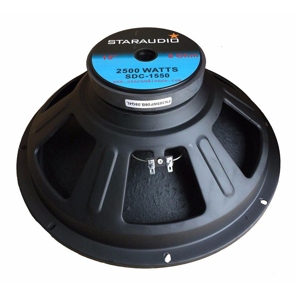 STARAUDIO 2500 Вт 15 дюймов сменный сабвуфер PA DJ домашний аудио динамик 8 Ом сценический сабвуфер 51 унций Магнит SDC 1550