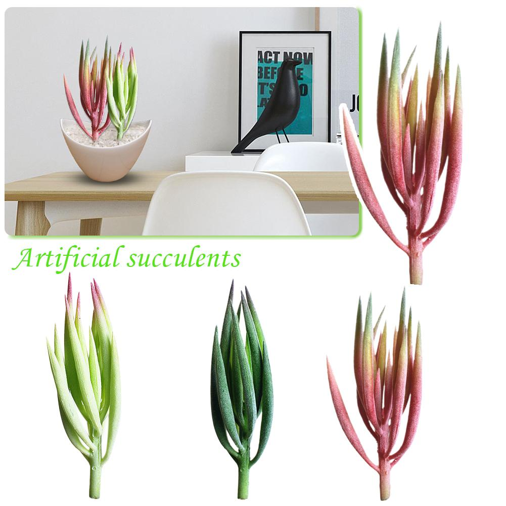 Beauty Plastic Artificial Succulents Craft Floristry Artificial Plants For Wall Decoration Creative DIY Accessories 3 Colors