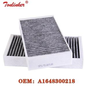 Image 1 - فلتر الهواء بالكابينة لمرسيدس بنز GL الدرجة X164 320 CDI 4 ماتيتش 450 550 السنة 2008 2009 2010 2011 2012 نموذج تصفية OEM A1648300218