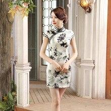 แฟชั่นใหม่จีนผู้หญิงวินเทจคอจีนQipaoผ้าไหมเรยอนมินิสไตล์C HeongsamขนาดSml XL XXL 20165425