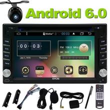 Quad Core 2Din Android 6.0 Car GPS Stereo Radio Capacitive Screen GPS Navigation DVD CD Player WiFi Bluetooth with Backup Camera
