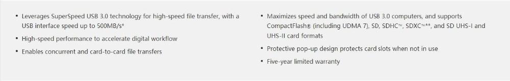 Lexar Professional USB 3.0 Dual-Slot Reader 1