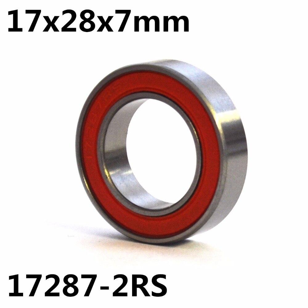 1pcs MR17287-2RS 17x28x7 mm GCR15 ball bearing bike wheels bottom bracket repair bearing1pcs MR17287-2RS 17x28x7 mm GCR15 ball bearing bike wheels bottom bracket repair bearing