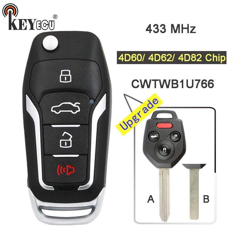 Upgraded Flip Remote Car Key Fob 315MHz 4D62 for Subaru Impreza Forester Liberty