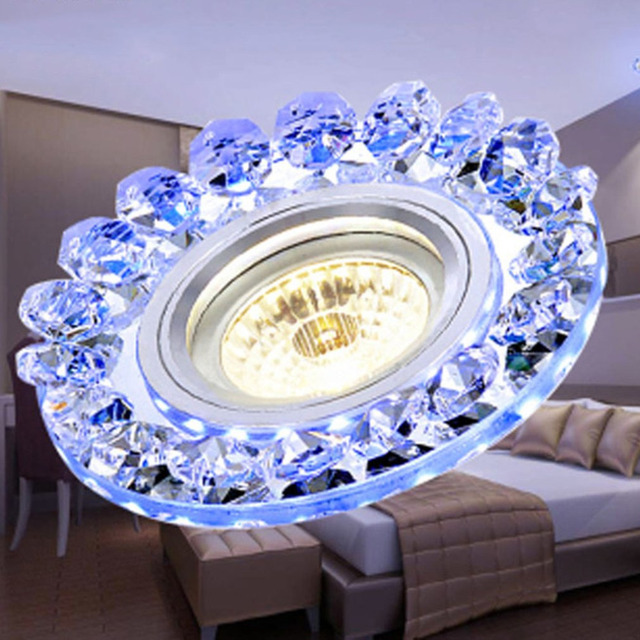 ICOCO COB LED Ceiling Light Inner Warm White Sided Blue Round Simple Decoration Home