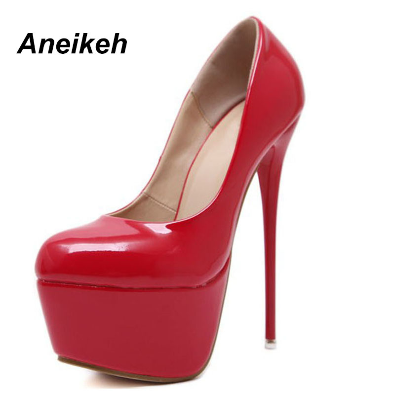 black Été Chaussures 2018 Haute Black De À Pompes Automne Talons red Femmes Sexy Soirée red forme Rond Noir Escarpins Plate Bout BqqUdr0