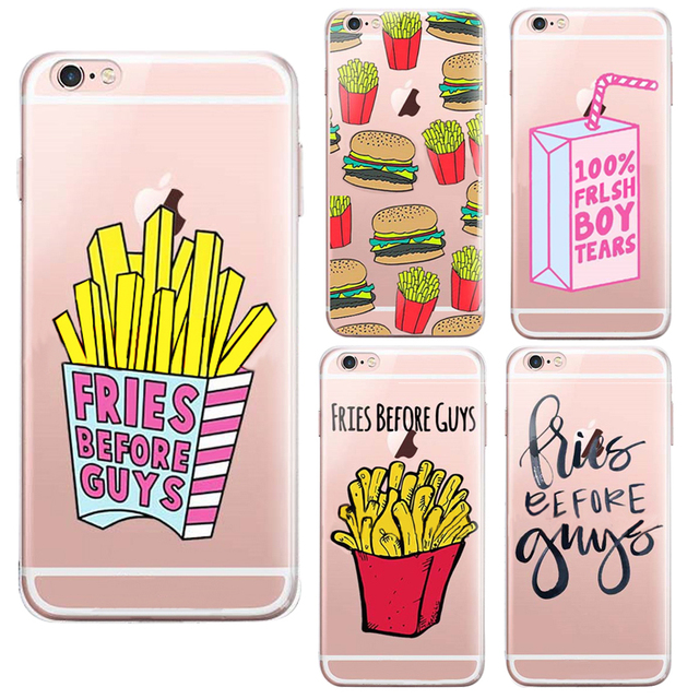 new product 89f92 4f69a US $3.5  Fries Before Guys Frish Boy Tears Back Beverage Design Cover Cases  Phone For Iphone 6 Plus Case Transparent Soft Silicone-in Fitted Cases ...