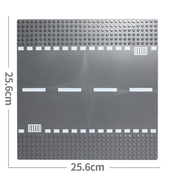 Classic City Road Street Baseplate Block Straight Crossroad Curve T-Junction DIY Assembly Building Blocks Parts Base Plate Gift 4