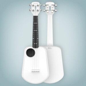 Image 4 - Populele 2 LED חכם סופרן יוקולילי קונצרט מxiaomi Bluetooth Ukulele 4 מחרוזות 23 אינץ לבן אקוסטית חשמלי גיטרה Uke