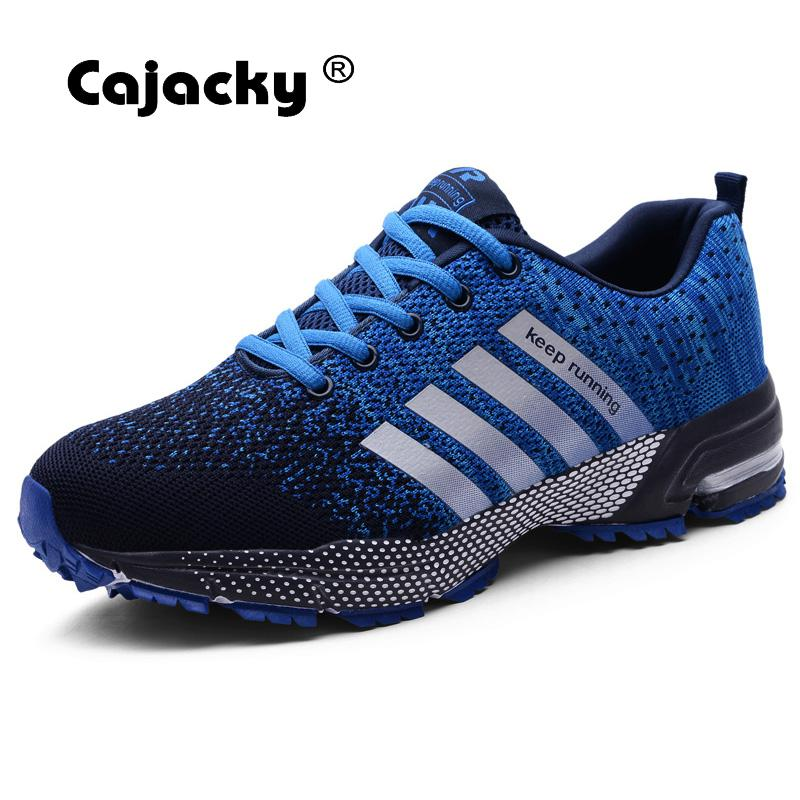 все цены на Cajacky High Quality Men Shoes Plus Size 47 Men Casual Shoes 2018 Summer Autumn Sneakers Lightweight Breathable Male Trainers онлайн