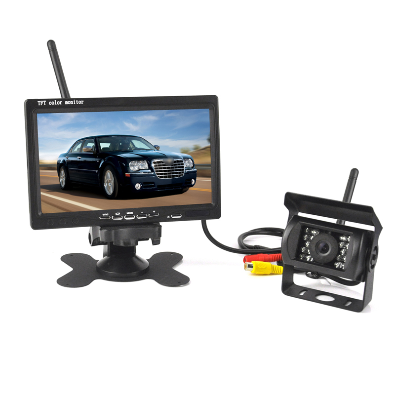 BORUiT Wireless Backup Cameras Parking Assistance Night Vision Waterproof Car Rearview Camera 7 Monitor for Truck Trailer Bus wireless dual backup cameras parking assistance night vision waterproof rear view camera 7 monitor for rv truck trailer bus