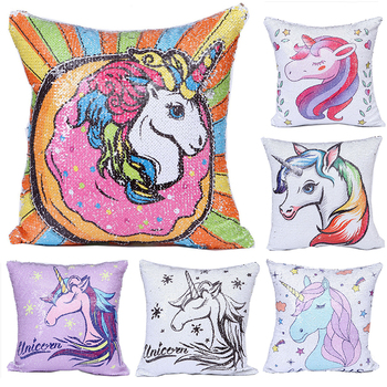 Unicorn Sequins Pillow Case