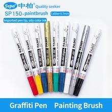 Graffiti Oily Marker Pen 12Pcs Metal Permanent Paint Markers Car Tyre Tire Tread Marker Pen Fine Needle Brush Drawing Pen SP150 цена 2017