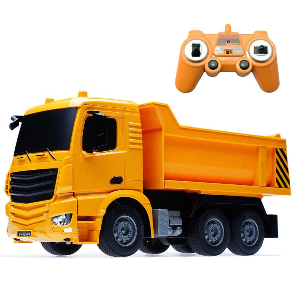 RC грузовик Большой самосвал электрическая Инженерная машина радиоуправляемая конструкция радиоуправляемая Автоцистерна цементный смеситель игрушечный автомобиль с батареей