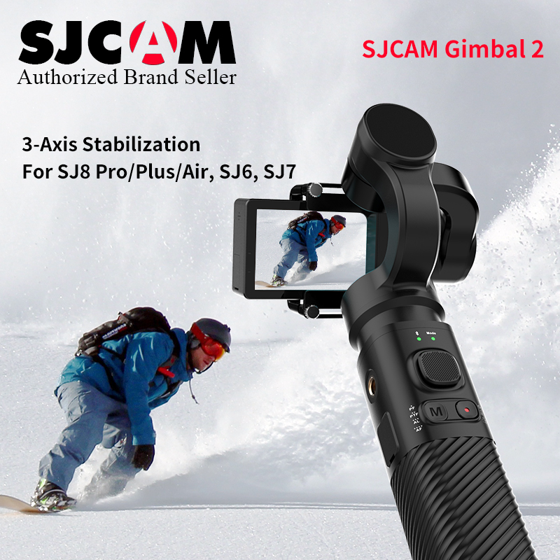Actualización 2018 apagado SJCAM accesorios SJCAM SJ8 PRo Serie SJ 7 STAR SJ6 leyenda de mano de 3 ejes cardán 2 estabilizador para sjcam sj8 cam