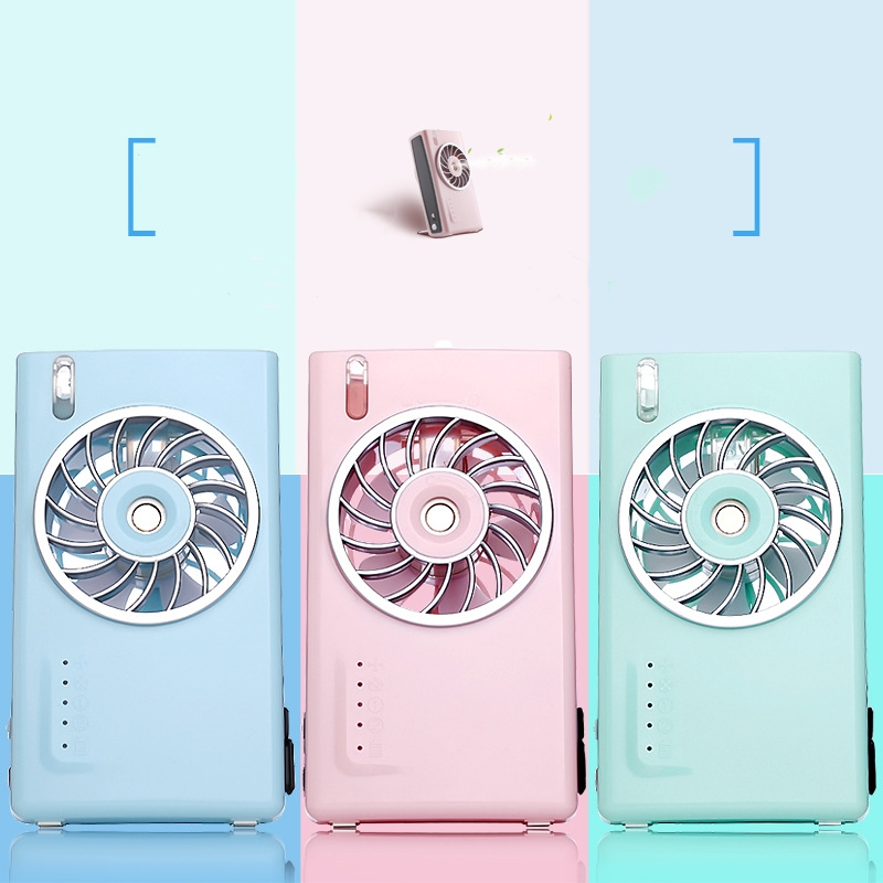 Humidifier Mini Portable Fan 2000mAh Rechargeable Power Bank Camera Mist Spray Fan Air Conditioner Cooling Fan For Office Travel