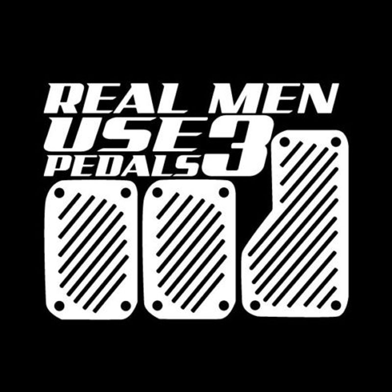 rylybons The 2nd Half Price stickers REAL MEN UES 3 PEDALS Car Styling Sticker Funny Vinyl Car Body Stickers and Decals cartoon