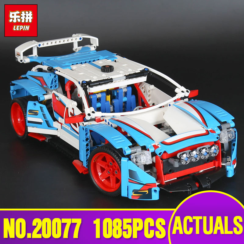 Lepin 20077 Genuine 1085Pcs Technic Series The Rally Car Set legoing 42077 Building Blocks Bricks Educational Children Toy Gifts lepin 23013 genuine technic series the remote control off road car set 2314pcs building kits blocks bricks legoing gifts