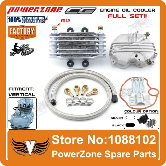 26ddfa8cc5 Radiador de óleo CG125 CG150 CG250 125cc 150cc 250cc radiador de  arrefecimento peças Fit motocicleta Dirt