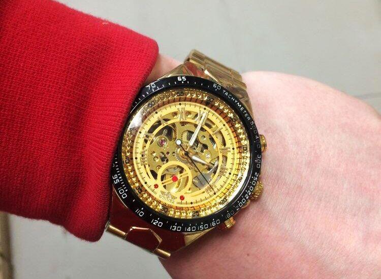 Winner New Number Sport Design Bezel Golden Watch Mens Watches Top Brand Luxury Montre Homme Clock Men Automatic Skeleton Watch 26
