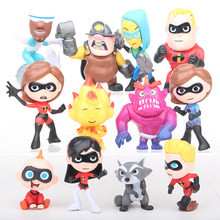 12 adet/grup film The Incredibles 2 Bob Parr Helen Parr 7cm süper adam aile Action Figure koleksiyon Model oyuncak hediye(China)