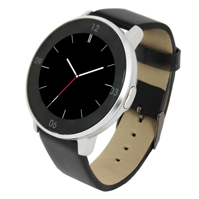 Fashion Bluetooth Smart Watch Leather Band Smartwatch HD Touch Screen Sports Wristwatch BT Partner for Android IOS Smartphone