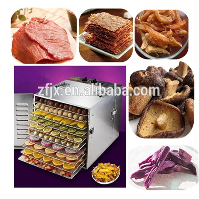 Dehydrator Fruit Dryer Fruit  Herb food Dryer Stainless steel food dehydrator machine 10 trays ZF