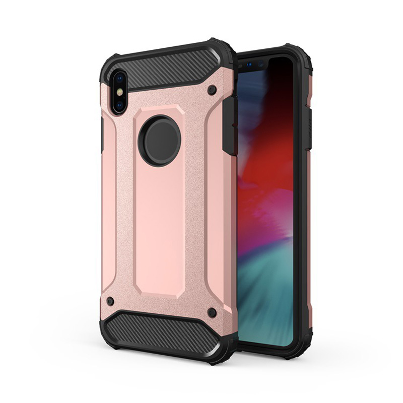 Steel Armor Phone Case For iPhone XS MAX XR X Soft TPU + PC Anti-fall Back Cover For iPhone 7 8 Plus 6 6S Cool Iron Phone Cases держатель для смартфона с функцией беспроводной зарядки