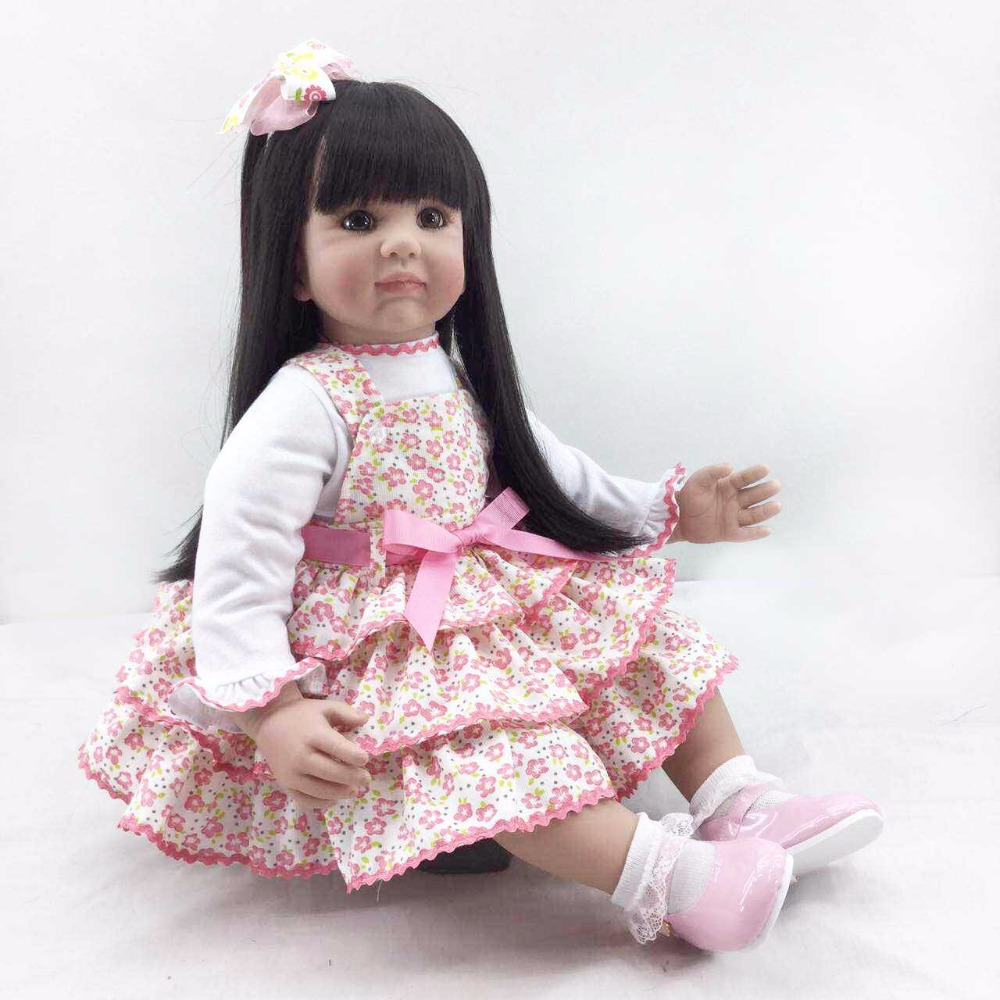 The new reborn vinyl silicone baby dolls accompany sleeping handmade lifelike princess toddler doll kid christmas new year gifts lifelike silicone reborn baby doll toys handmade simulation brinquedos toddler accompany sleeping baby new year christmas gifts