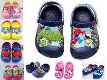 Nouvelle 2016, Elsa anna, Bonjour kitty, Dora, Spiderman, 3D bande dessinée plage sandales, Bébé garçon fille chaussures, Enfants chaussures, Garçons filles chaussures