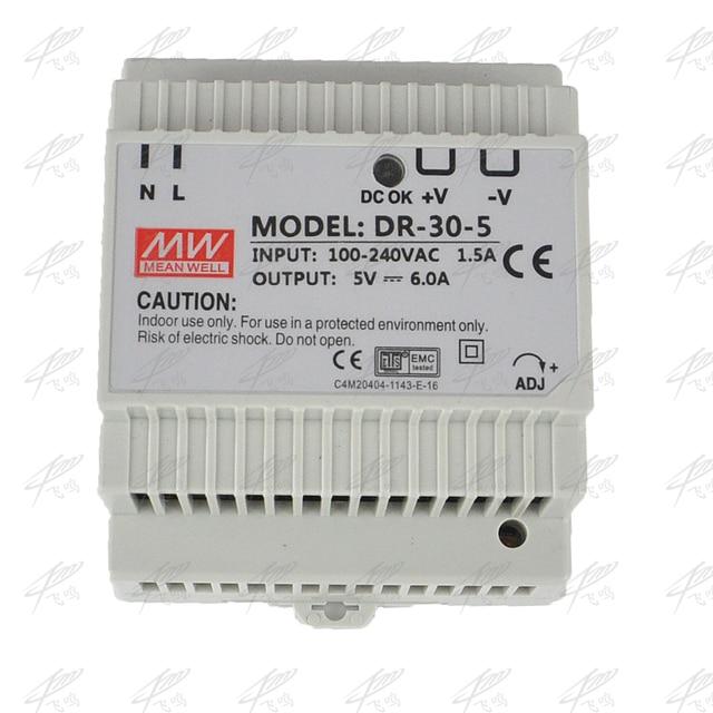 Din rail power supply 30w 5V 12V 15V 24V power suply 24v 30w ac dc converter good quality DR-30-24 DR-30-5 DR-30-12