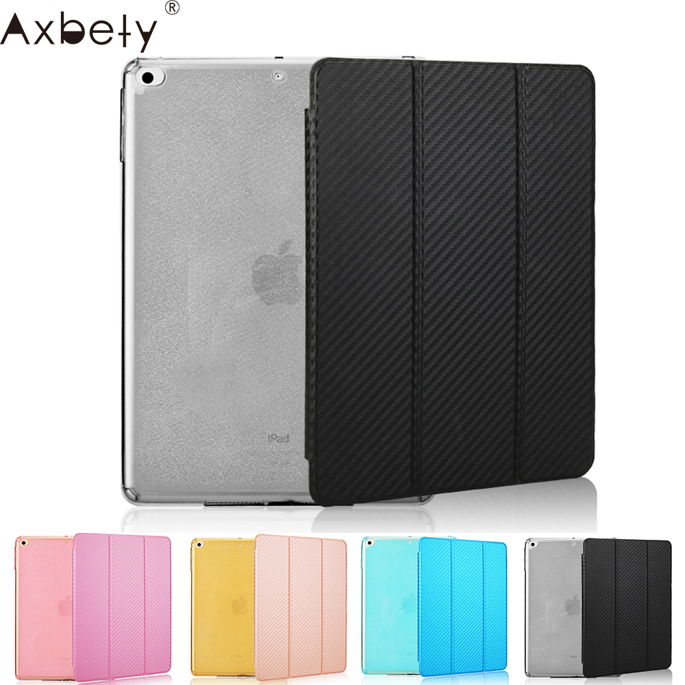 AXBETY For Ipad Mini 3 Carbon fiber PU leather Cover Coque For Ipad Mini 3 Case Glitter Silicon soft TPU back Protection Case nice soft silicone back magnetic smart pu leather case for apple 2017 ipad air 1 cover new slim thin flip tpu protective case