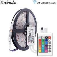 Светодиодная лента 5050SMD RGB 60 светодиодов/м гибкий свет DC12V волшебный домашний мини смартфон RGB WIFI светодиодный контроллер