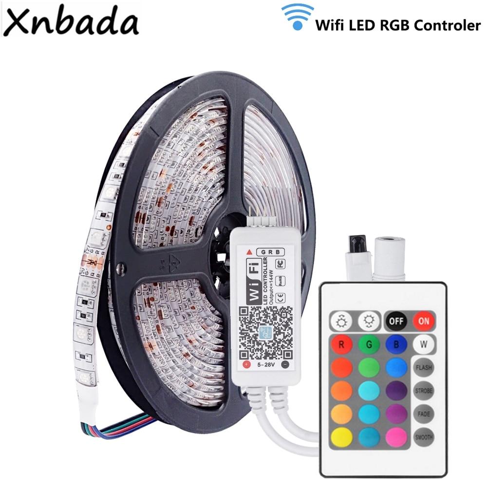 Led Strip 5050SMD RGB 60Leds/m Flexible Light DC12V Magic Home Mini Smartphone RGB WIFI Led Controller