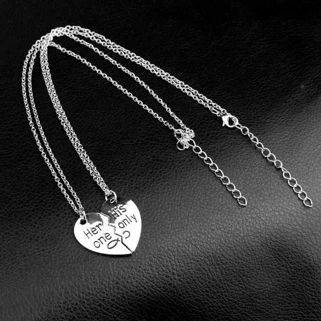 Split Heart Design Pendants for Couple