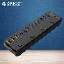 ORICO концентратор USB 3.0 12 Порты 12 В 5A Адаптеры питания в том числе 3 Порты и разъёмы BC1.2 зарядки Порты рабочего Многофункциональный -(P12-U3)