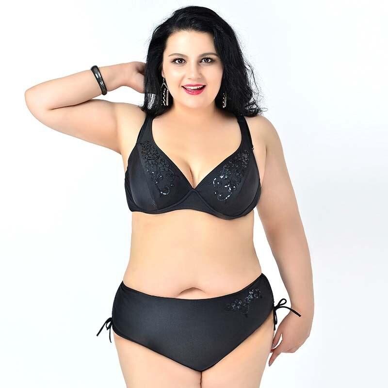 sequins Vintage fat Bikini Set Plus Size Strappy Rockabilly Top ...