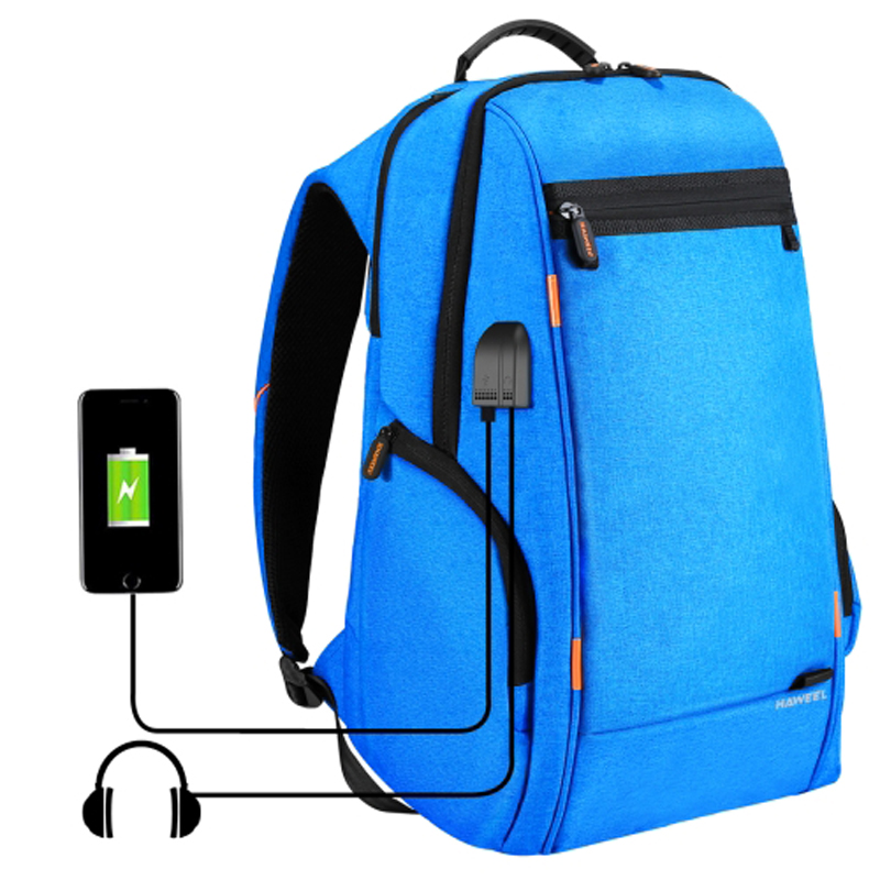 PULUZ Outdoor Casual Camera Bag Backpack Laptop Bag w/ USB Charging/Earphone Ports for DRSL Camera Laptop Bag BluePULUZ Outdoor Casual Camera Bag Backpack Laptop Bag w/ USB Charging/Earphone Ports for DRSL Camera Laptop Bag Blue